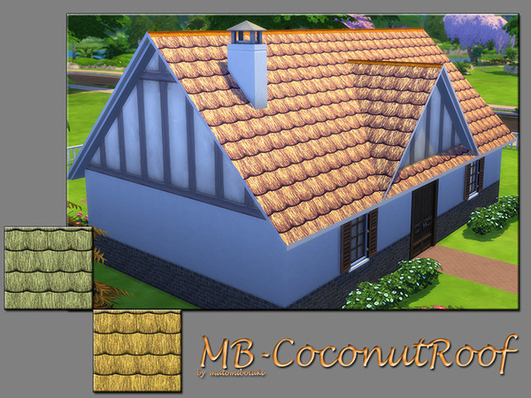 Sims 4 Coconut Roof by matomibotaki at TSR