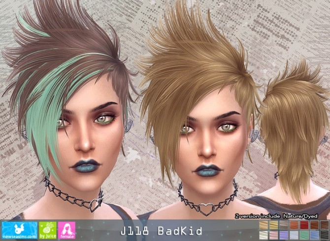 J118 BadKid hair F (pay) at Newsea Sims 4 image 505 670x491 Sims 4 Updates