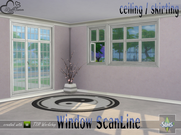 Sims 4 Window Set ScanLine Ceiling and Skirting by BuffSumm at TSR