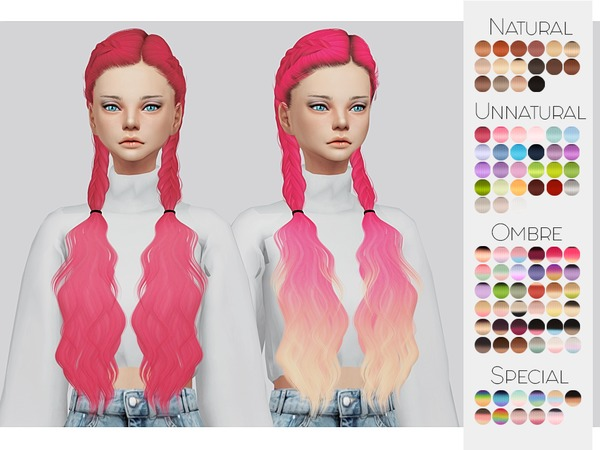 Sims 4 Hair Retexture 03 LeahLilliths Alessia by Kalewa a at TSR