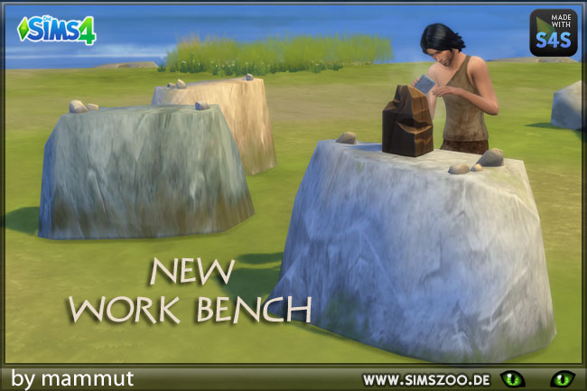 Stone worktable by mammut at Blacky's Sims Zoo image 5122 Sims 4 Updates