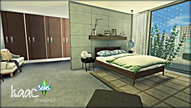Sims 4 Isaac Large Modern Bedroom at Pandasht Productions