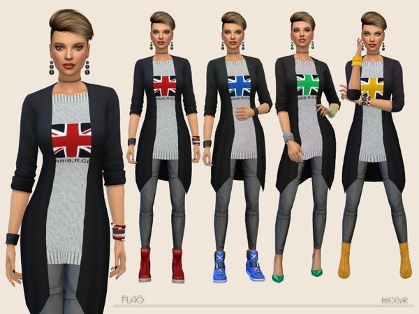 Sims 4 Flag outfit by Paogae at TSR