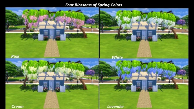 Four Seasons Tree Trellis by Snowhaze at Mod The Sims image 526 670x377 Sims 4 Updates