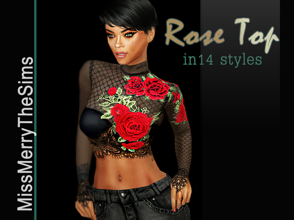 Rose Blouse by Maria MissMerry at TSR image 529 Sims 4 Updates