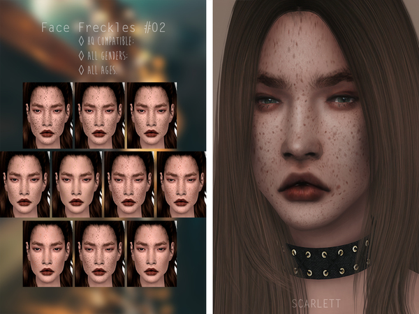 Sims 4 Face Freckles #02 by Scarlett content at TSR