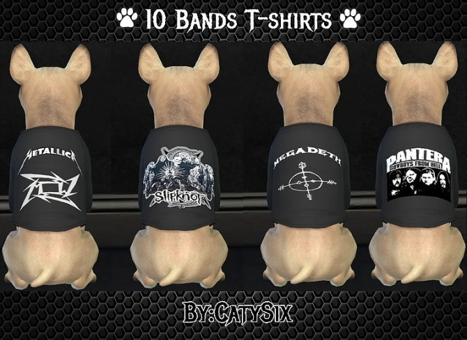 Sims 4 Bands T shirts For Dogs at CatySix