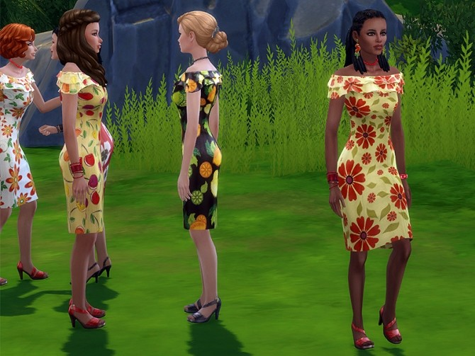 Sunny dress by Simalicious at Mod The Sims image 5416 670x503 Sims 4 Updates