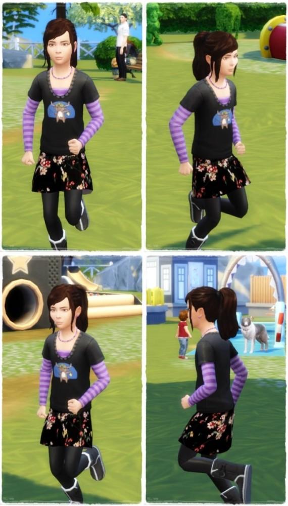 Good Morning Ponytail Girls at Birksches Sims Blog image 544 570x1000 Sims 4 Updates