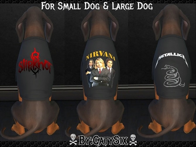 Bands T shirts For Dogs at CatySix image 548 670x502 Sims 4 Updates
