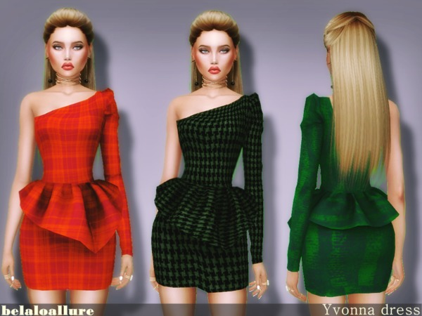 Yvonna dress by belaloallure at TSR image 5514 Sims 4 Updates