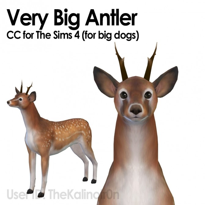 Small Antlers by TheKalino at Mod The Sims image 5516 670x670 Sims 4 Updates