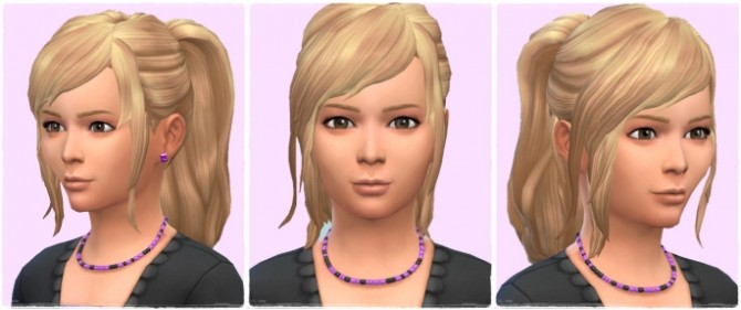 Sims 4 Good Morning Ponytail Girls at Birksches Sims Blog