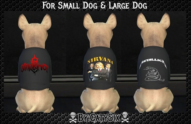 Bands T shirts For Dogs at CatySix image 558 670x436 Sims 4 Updates