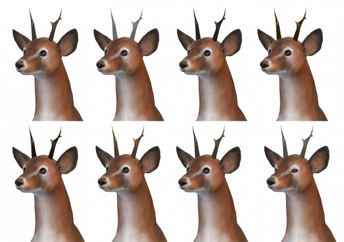 Small Antlers by TheKalino at Mod The Sims » Sims 4 Updates
