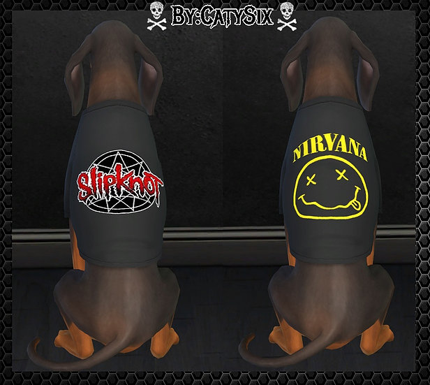 Bands T shirts For Dogs at CatySix image 569 Sims 4 Updates