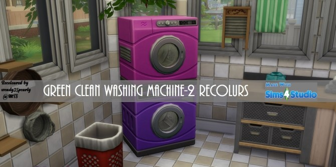 Washer Dryer SET Fushia Pink and Violet Purple by wendy35pearly at Mod The Sims image 5711 670x334 Sims 4 Updates