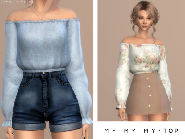 My My My Top by Christopher067 at TSR image 5715 Sims 4 Updates