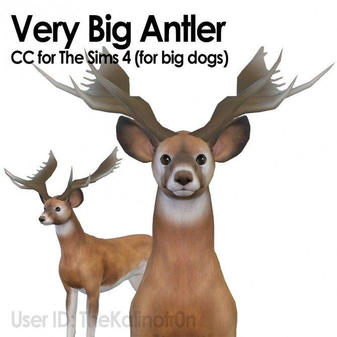 Very Big Antlers by TheKalino at Mod The Sims image 5717 670x670 Sims 4 Updates