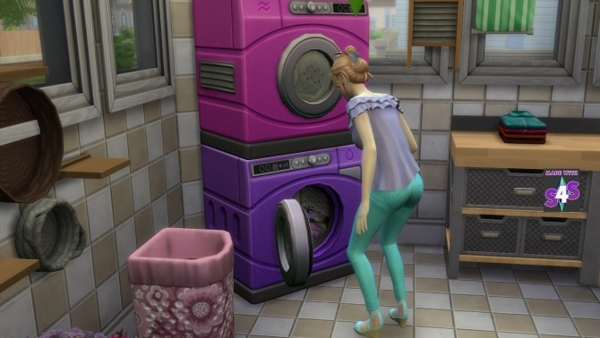 Washer Dryer SET Fushia Pink and Violet Purple by wendy35pearly at Mod The Sims image 5811 670x378 Sims 4 Updates