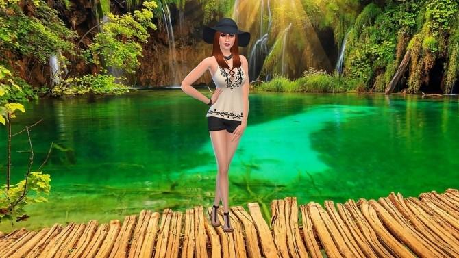 Sims 4 Croatia Lake CAS Background at CatySix