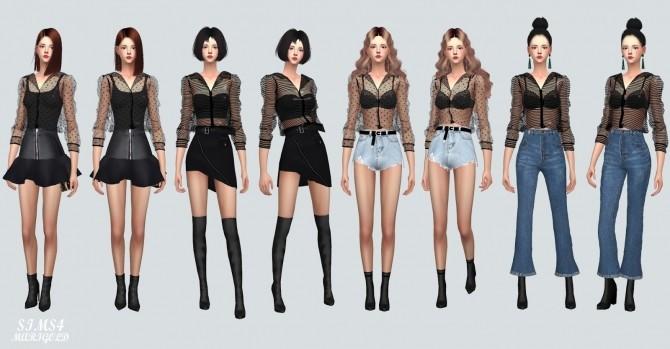 Sims 4 See Through Blouse at Marigold