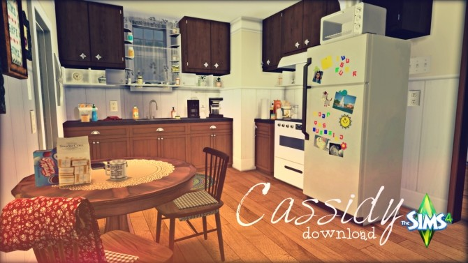 Sims 4 Cassidy kitchen by Rissy Rawr at Pandasht Productions