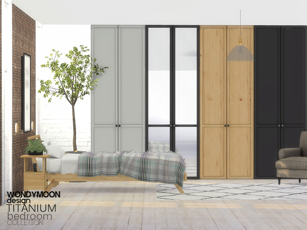 Titanium Bedroom by wondymoon at TSR image 602 Sims 4 Updates