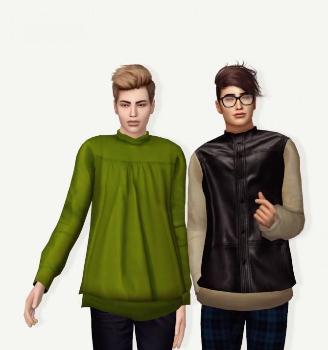 Sims 4 Simsimi Back Zip Up Top Conversion at Astya96