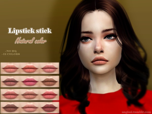 Lipstick Natural color by ANGISSI at TSR image 6100 Sims 4 Updates