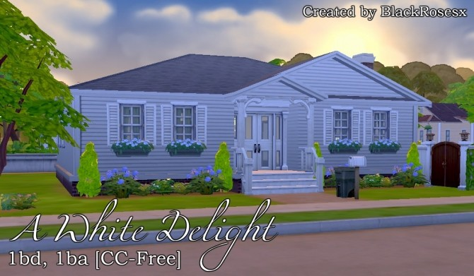 Sims 4 A White Delight house by BlackRosesx at Mod The Sims