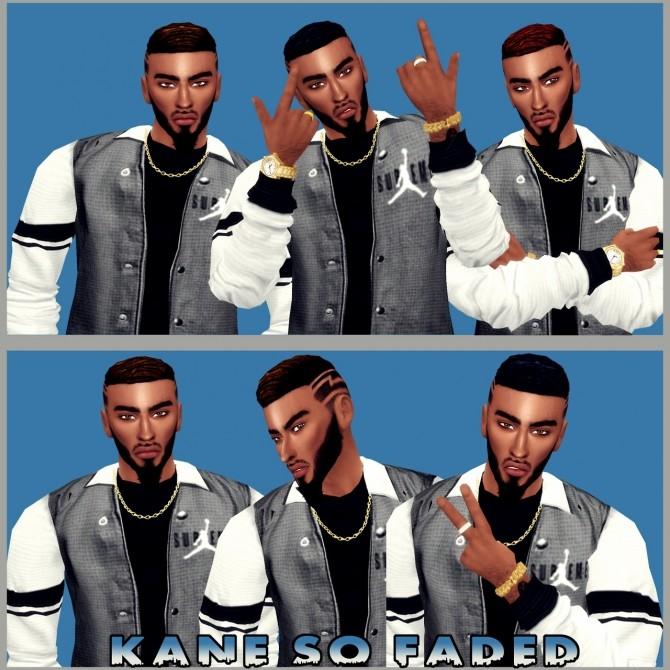 Sims 4 Kane So Faded Modified Male Hair at LolaSimblr