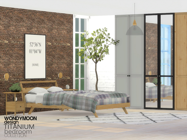 Titanium Bedroom by wondymoon at TSR image 613 Sims 4 Updates