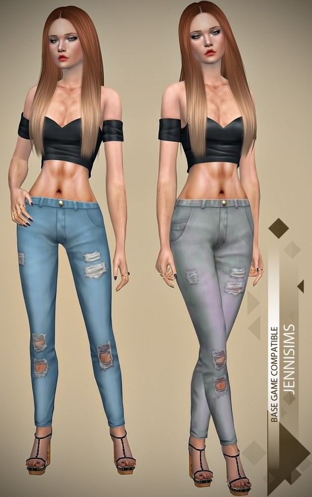 Ripped Jeans at Jenni Sims image 6220 629x1000 Sims 4 Updates