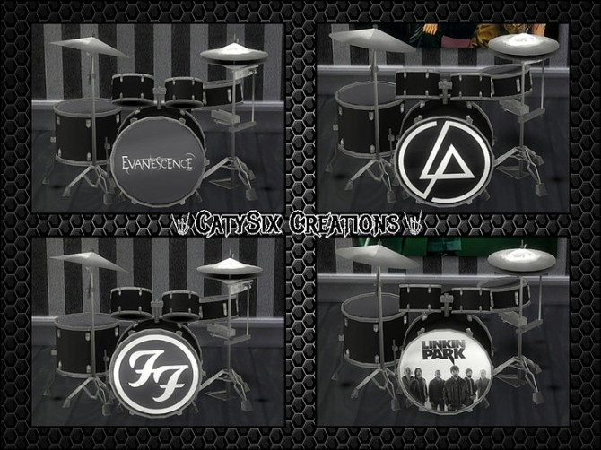 Playable Drums V4 at CatySix image 6222 670x502 Sims 4 Updates