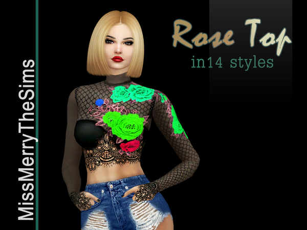 Rose Blouse by Maria MissMerry at TSR image 629 Sims 4 Updates