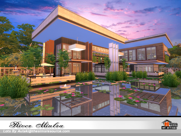 Sims 4 River Mintra house NoCC by autaki at TSR