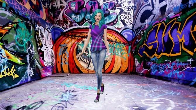 Graffiti V3 CAS Background at CatySix image 646 670x377 Sims 4 Updates