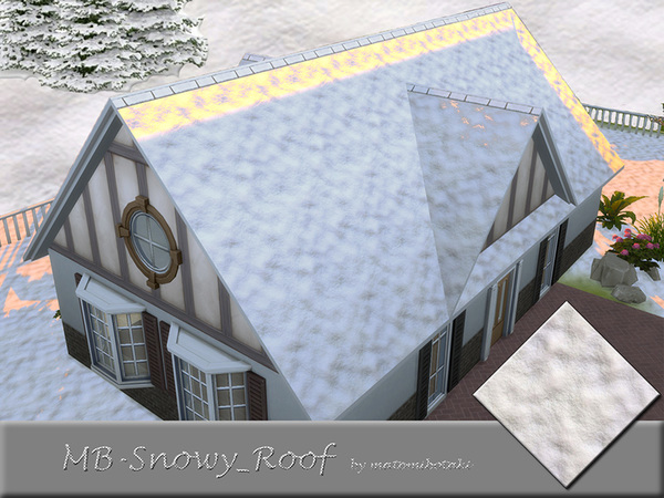 Sims 4 MB Snowy Roof by matomibotaki at TSR