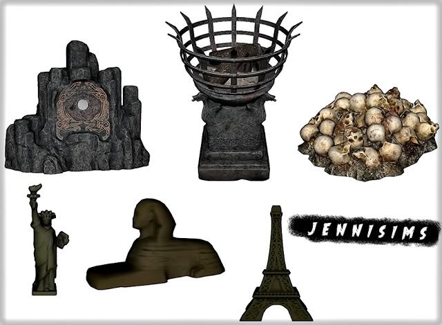Sims 4 Set Vol 91 Decoratives 6 Items at Jenni Sims