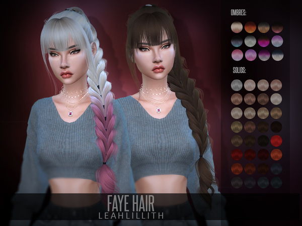 Faye Hair by Leah Lillith at TSR image 672 Sims 4 Updates