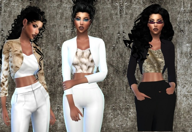 Crop Top with Jacket at Teenageeaglerunner image 6721 670x462 Sims 4 Updates