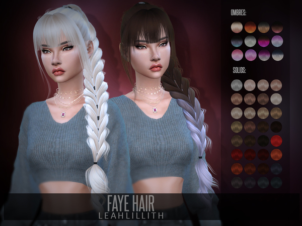 Faye Hair by Leah Lillith at TSR image 682 Sims 4 Updates