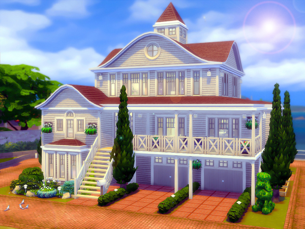 By The Sea family home by sharon337 at TSR image 687 Sims 4 Updates