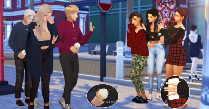 Sims 4 Celebrity in town poses at Simsnema