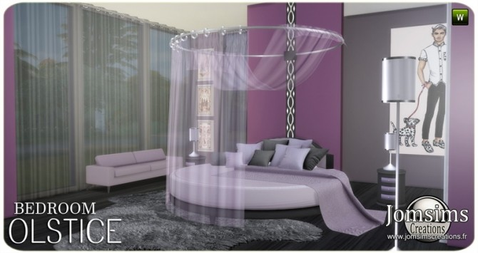 Sims 4 Olstice bedroom at Jomsims Creations