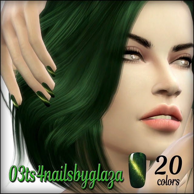 Nails #03 at All by Glaza image 694 Sims 4 Updates