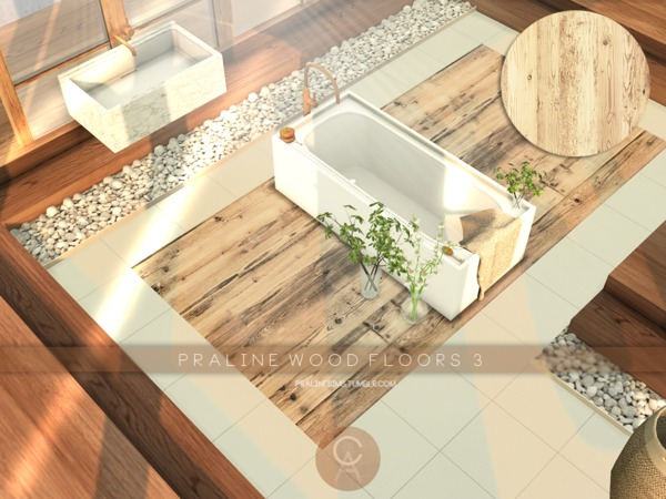 Sims 4 Wood Floors 3 by Pralinesims at TSR