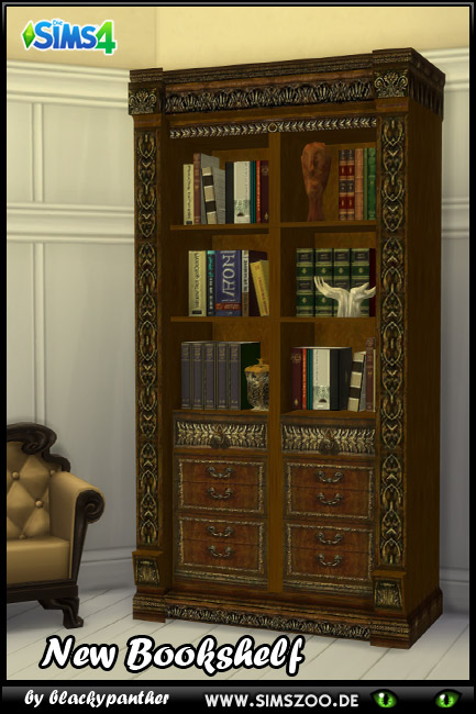 Royal Set Bookshelf by blackypanther at Blacky's Sims Zoo image 7019 Sims 4 Updates