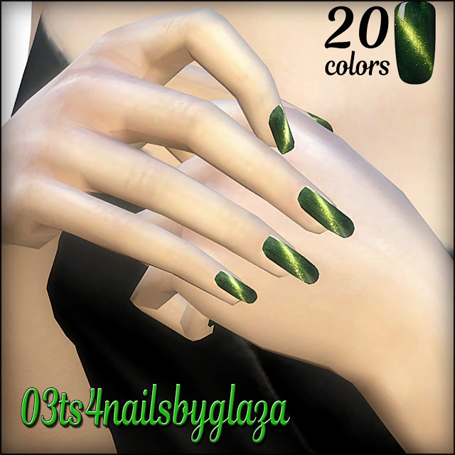 Nails #03 at All by Glaza image 704 Sims 4 Updates